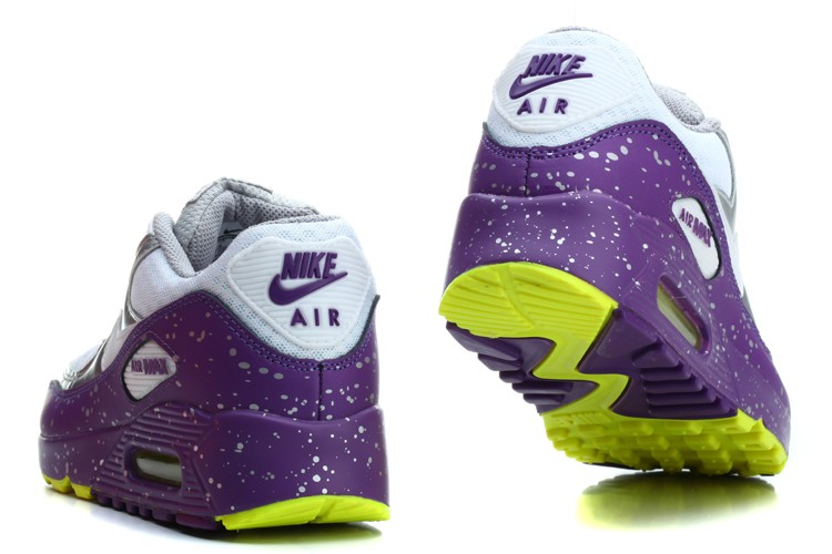 soldes Chaussure - Nike Air Max - violet argent blanc vert fluo Femme - soldes Chaussure Nike Air Max violet argent blanc vert fluo Femme-2