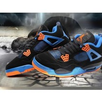 Nike Air Jordan 4 IV Retro Noir / Bleu / Orange Chaussures